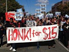 Minimum Wage Parade by Rand Wilson